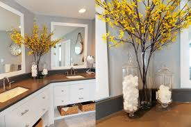 interesting 60 yellow grey bathroom decor design inspiration of