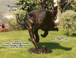 mountain lion statue great american bronze works inc sculptures mountain lion on