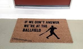 amazon com if we don u0027t answer we u0027re at the ballfield coir funny