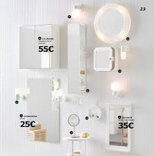 miroir avec applique accessoire salle de bain ikea impressionnant sur dacoration