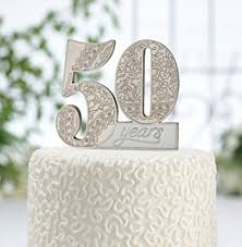 lillian cake topper lillian 50th anniversary decor number cake topper