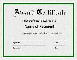 certificate templates winner certificate template free award