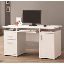 Computer Desk With Drawers Desks Home Office White Computer Desk Co 800108
