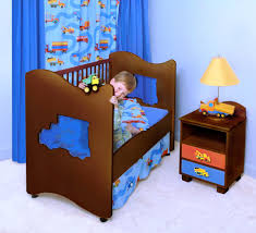 Kids Bedroom Furniture Desk Diy Toddler Beds For Boys Bunk Bed Desk Has Blue Table Lamp Kids