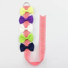 hair ribbons 6pcs set flower print hair ribbons holder hair