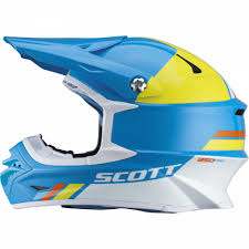 light motocross helmet scott 350 pro trophy helmet light blue yellow mxweiss motocross shop