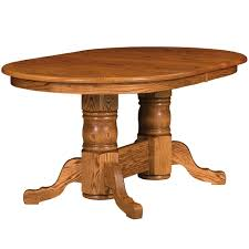 amish mission style dining tables stafford double pedestal