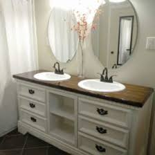 Dual Vanity Sink Horizon Double Vanity Sink Console With Ebony Finish White Double