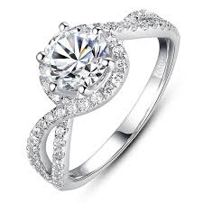 daimond ring luxury engagement ring 1 carat simulated diamond ring as brilliant