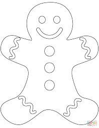 coloring pages of gingerbread man
