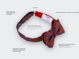 Meme Tie - bow tie sp礬rone red silk and wool cinabre paris