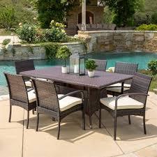 coronado rectangular dining table best selling home decor coronado outdoor 7 piece wicker rectangular