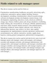 resume sample cafe manager resume ixiplay free resume samples