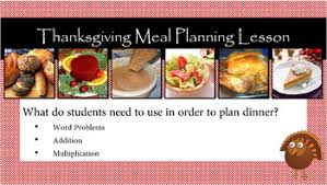 thanksgiving meal planning lesson by better than tutoring tpt