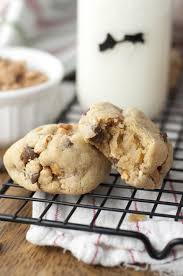 thick chewy chocolate chip peanut butter cookies wishes and dishes
