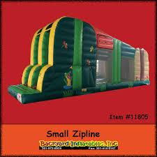 inflatable zip line backyard inflatables