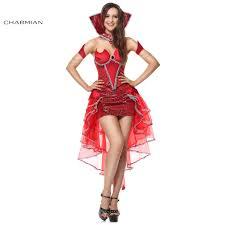 Female Pimp Halloween Costume Aliexpress Buy Charmian Red Devil Queen Darkness