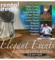 linen rental events and decor linen rental detroit wedding day