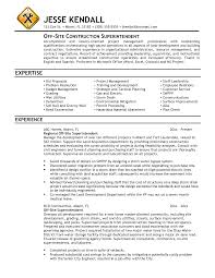 Resume Samples Chef by Resume Sample Project Superintendent