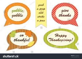 thanksgiving photo booth set thanksgiving speech photo stock illustration