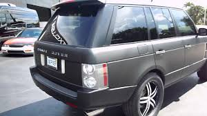 range rover matte black house of wraps matte black range rover youtube