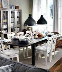 Black And White Chair Covers Ikea Dining Chairs Rectangle Black Wood Dining Table Black Leather