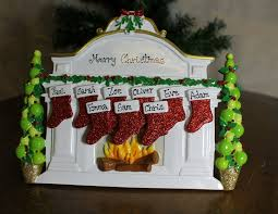 personalised resin fireplace christmas ornament table decoration