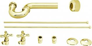 Westbrass Faucet Traditional Pedestal Lavatory Kit Cross Handles In Polished