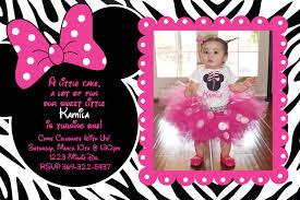 minnie mouse 1st birthday invitation iidaemilia com