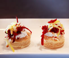 appetizer canape individual root vegetable galettes recipe