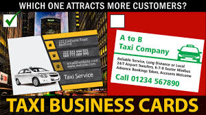 Car Service Business Card Taxi Business Cards Youtube
