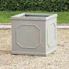 Concrete Planter Boxes by Napa Home U0026 Garden Chelsea Fibreclay Concrete Planter Box Size