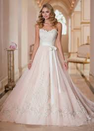 blush wedding dress blush wedding dresses with classic details modwedding