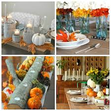 table decorations on dining room with the best diy thanksgiving