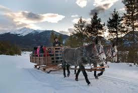 winter sleigh rides in colorado minitime