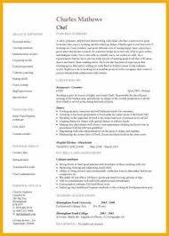 6 chef bio examples bursary cover letter