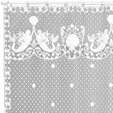 Vintage Mermaid Shower Curtain - lace curtain store discount heritage lace curtains and textiles