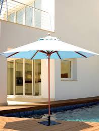 Tilting Patio Umbrella galtech 9 u0027 teak wood quad pulley non tilt patio umbrella with