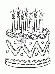 7th birthday cake coloring page for kids holiday coloring pages