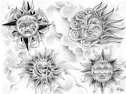 celestial sun moon designs sun1002 black and grey