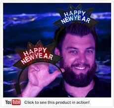 led new years happy new years headband led headband 2014 party glowsource