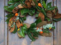 diy make a fresh magnolia wreath