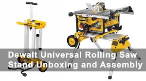 Table Saw Stand With Wheels Dewalt Universal Rolling Table Saw Stand Unboxing And Assembly