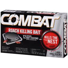 combat small large roaches roach killing bait stations 12 ct