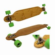 bamboo drop through longboard complete