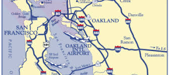 map of oakland maps directions oakland international airport