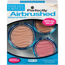 physicians formula mineral wear flawless airbrushing kit light 3