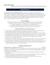 Resume Nursing Examples by Resume Examples Registered Nurses