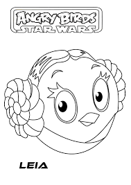 angry birds star wars the beautiful princess leia coloring pages
