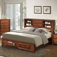 Storage Platform Bed Clement Storage Platform Wood Bed By Furniture Of America Free